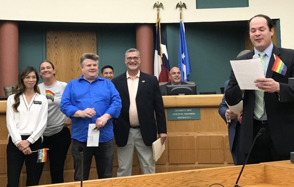 PRIDE Week Proclamations Before City, County